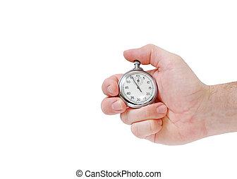 reloj de parada, mano