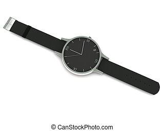reloj de pulsera, análogo