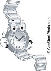 reloj de pulsera, mascota