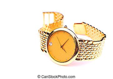 reloj, oro