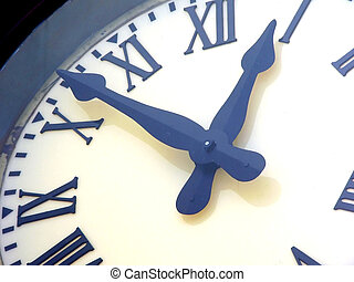 reloj, primer plano