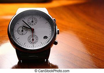 reloj, primer plano, moderno, -