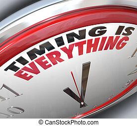 reloj, puntual, todo, palabras, sincronización, velocidad