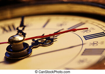 reloj, viejo, cara