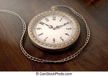 relojde bolsillo, en, cadena