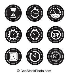 relojes, iconos