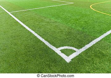 relvar, futebol, artificial, campo
