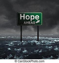 remény, előre