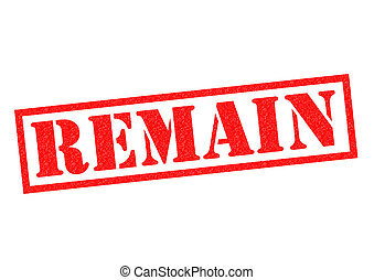 REMAIN red Rubber Stamp over a white background.