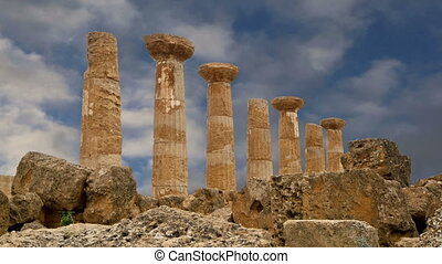 Remains of an ancient Greek temple of Heracles (V-VI century...