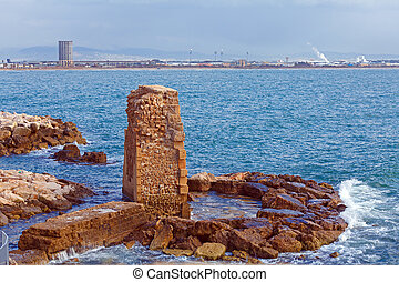 Remains of Ancient Harbor, Acre - Remains of Ancient Harbor ...