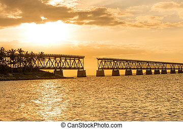 Bahia Honda railroad bridge - Remains of Bahia Honda...
