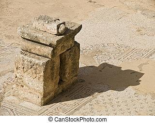 Remains of Byzantine church built on Roman temple in Jerash, Jordan