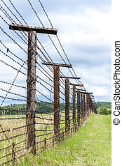 remains of iron curtain, Cizov, Czech Republic