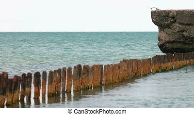 Remains of iron pier