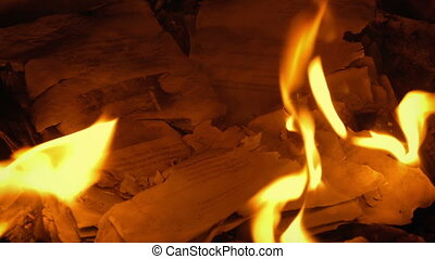 Remains Of Pages Burned Up In Fire - Generic Content - Pages...