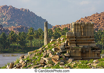 Remains of the ancient capital of the South Indian ...