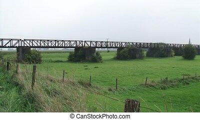 Remains railway line in landscape