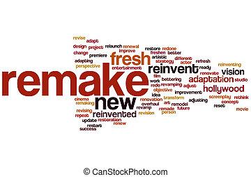 Remake word cloud concept