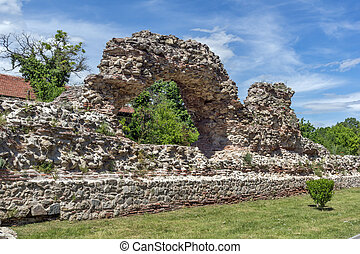 Remanings of Roman fortifications in Diocletianopolis, town of Hisarya, Plovdiv Region,
