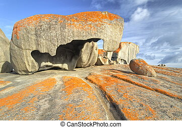 Remarkable rocks, Australia - Early morning light shining on...