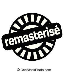 remastered, estampilla, francés
