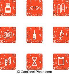 Remediation icons set, grunge style - Remediation icons set....