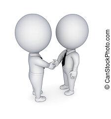 remegő, businesspeople, hands.