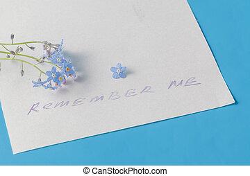 """remember, me"", concept."