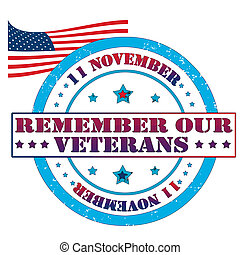 Remember our veterans stamp