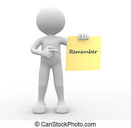 """""""remember"""", papier, wort, gelber"""