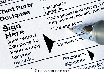 Remember to sign the tax return before you mail