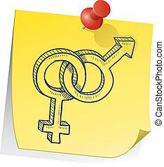 Remember your relationship - Doodle style gender -...