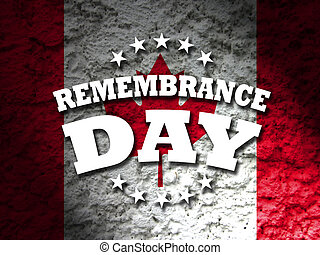 Remembrance Day Canada with abstract flag background