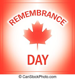 Remembrance Day Canada with abstract flag background, vector...