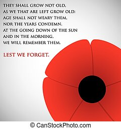Remembrance Day card in vector format.