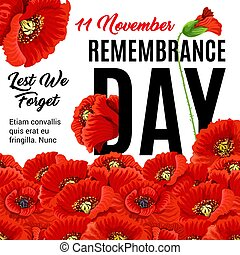 Remembrance day creative poster - Creative poster with red...