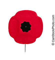 Remembrance Day poppy - Red poppy lapel pin for Remembrance...
