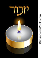 "Remembrance - ""Remembrance"" (Hebrew) - Vector backgroundv..."