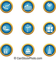 Remembrance icons set, flat style
