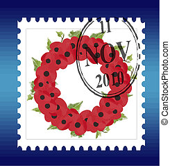 remembrance stamp vector