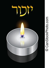 """""""Remembrance"""" - Vector background (Hebrew)"""