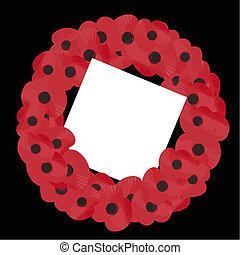remembrance wreath vector