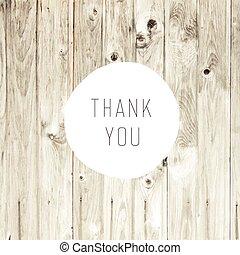 remercier, bois, fond, blonds, vous, carte