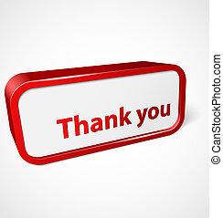 remercier, brillant, résumé, vous, bannière, rouges