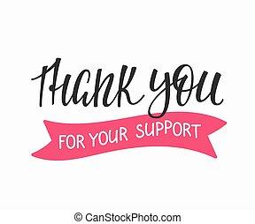 remercier, citation, famille, positif, vous, lettrage