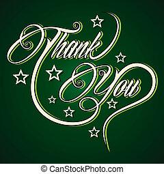 remercier, créatif, salutation, vous