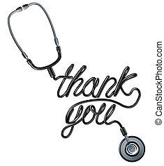 remercier, healthcare, vous