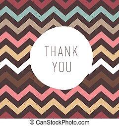 remercier, modèle, seamless, texture, vect, zigzag, label., vous, card.