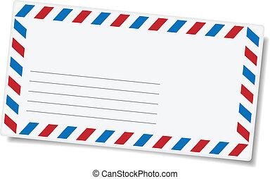 remetendo, envelope, em branco